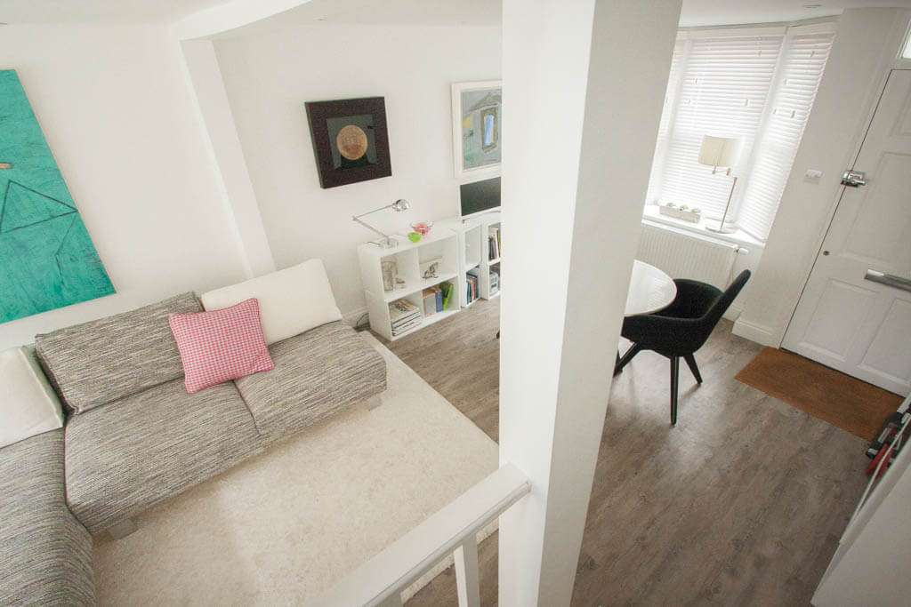 Filby Builders | Margaret Street, Brighton BN2 | Overhead to Lounge